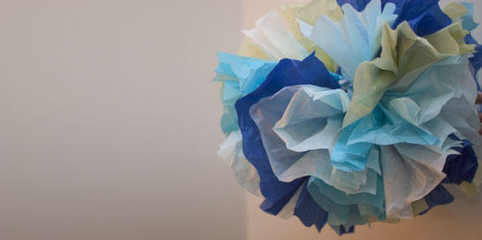 Tissue Pom Pom Craft