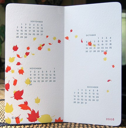 c&#038;a letterpress calendar